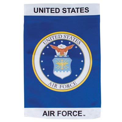 U.S. Air Force Emblem Lustre Garden Flag 12x18""