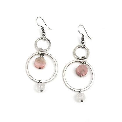 Banjara Opal & Quartz Circle Earrings