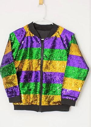 Mardi Gras Sequin Bomber Jacket