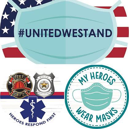 United/Hero Stickers