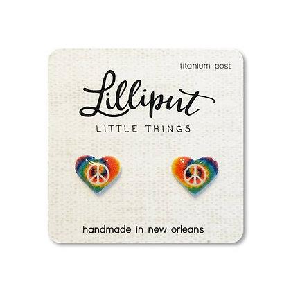 Boho Hippie Heart Earrings