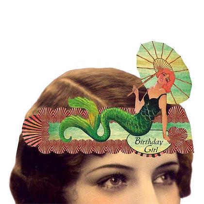 Birthday Girl Mermaid Tiara Card
