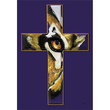 LSU Eye Cross Garden Flag