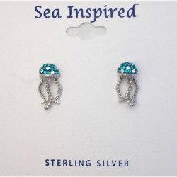 Jellyfish Post Earrings Swarovski Crystal