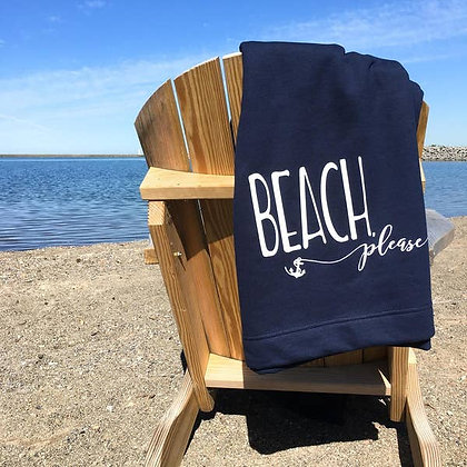 Beach Please Sweatshirt Blanket
