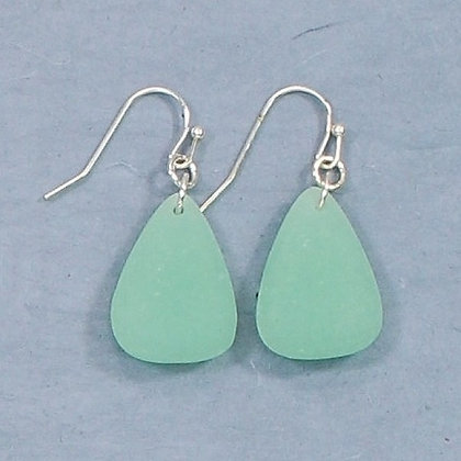 Sea Glass Teardrop Earrings