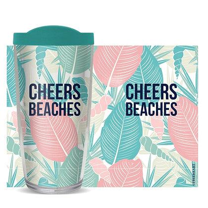 Cheers Beaches 16 oz Tumbler