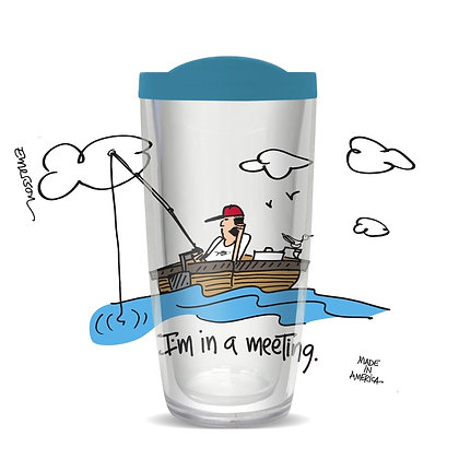 In a Meeting Boat 16 oz Tumbler