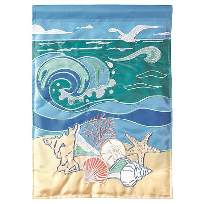 Shells at Surf Large Flag