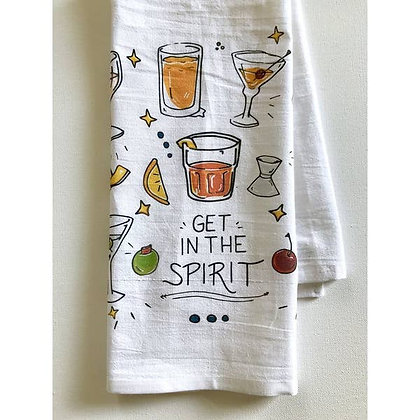Get in the Spirit of Cocktail Towel