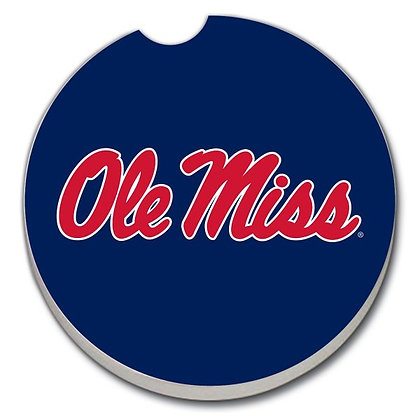 Car Coaster - Ole Miss on Blue