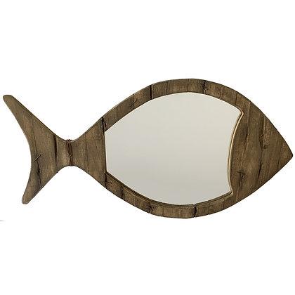 Mirrored Driftwood Fish Décor