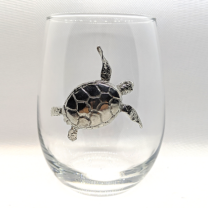 Sea Turtle Stemless Goblet copyright by Maurice Milleur