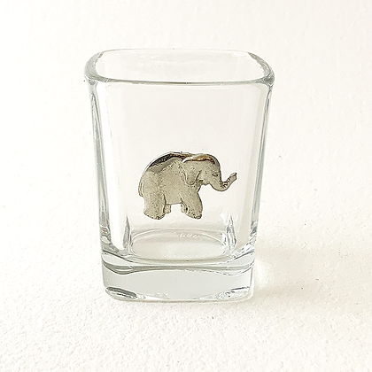 Elephant Standing Shot Glass copyright by Maurice Milleur