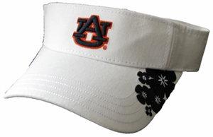 Auburn University Visor White Tropical