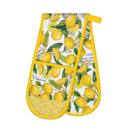 Lemon Basil Double Oven Glove