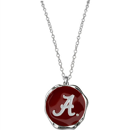 Alabama Enamel Disk Necklace