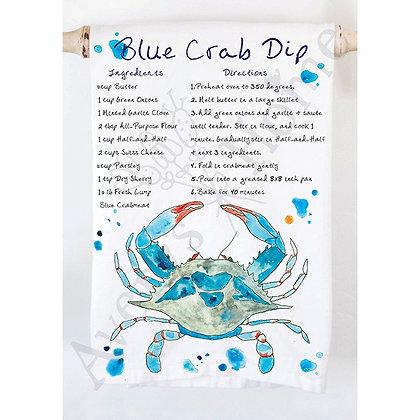 Blue Crab Dip Kitchen Towel