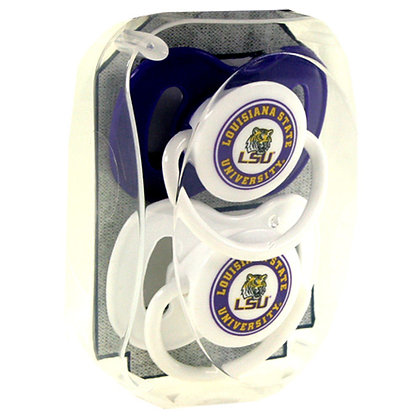 LSU 2-pack Pacifier Set