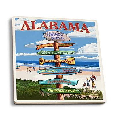 Alabama Orange Beach Destination Sign Coaster