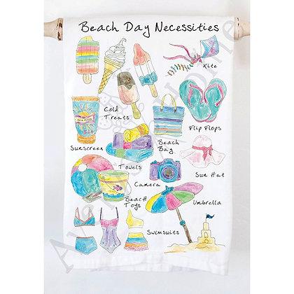 Beach Day Necessities Kitchen Towel