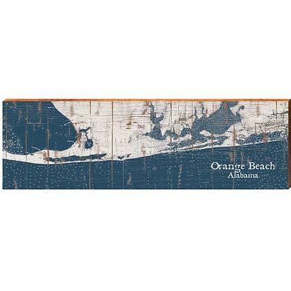 Orange Beach Alabama Shabby Small Map Sign