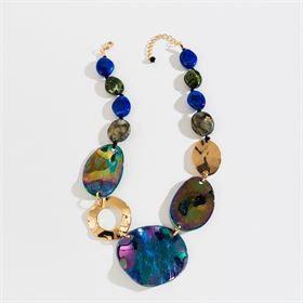 Blue & Gold Statement Necklace