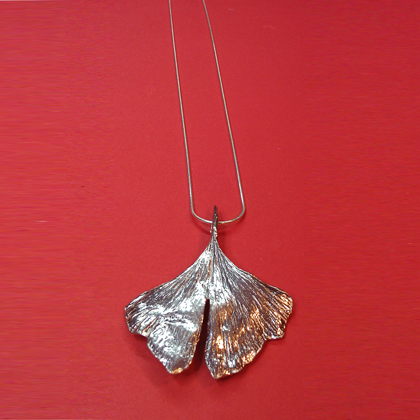 Gingko Chain Necklace copyright by Maurice Milleur