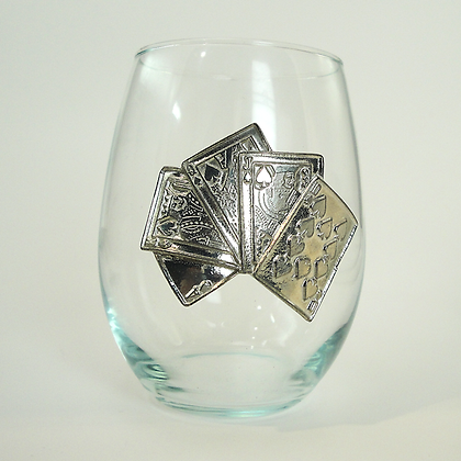 Playing Cards Stemless Glass 21 oz copyright by Maurice Milleur