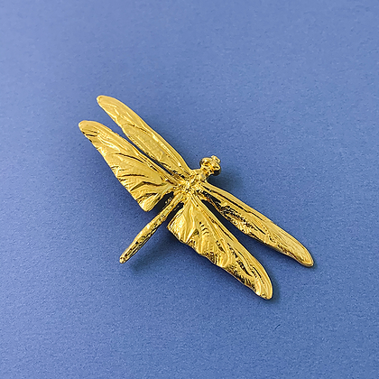 Dragonfly Gold Pin copyright by Maurice Milleur