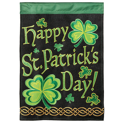 Happy St. Patrick's Day Garden Flag