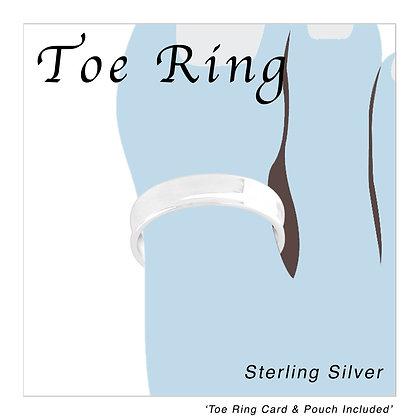 Silver Band Plain Toe Ring
