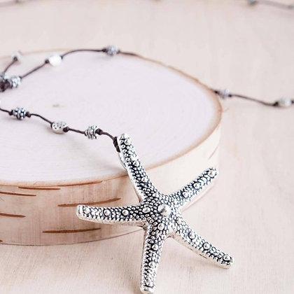 Silver Bumpy Starfish Necklace