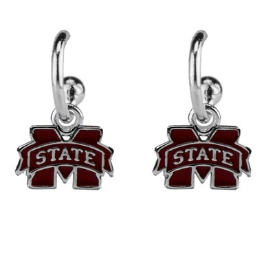 Mississippi State Drop Logo Earrings
