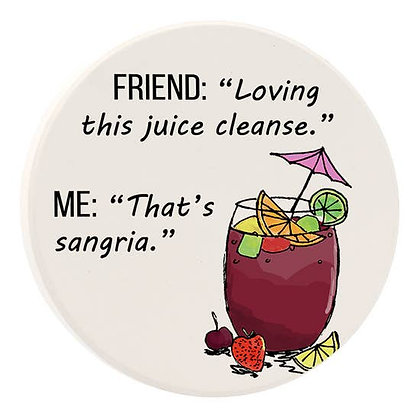 Sangria Juice Car Coaster