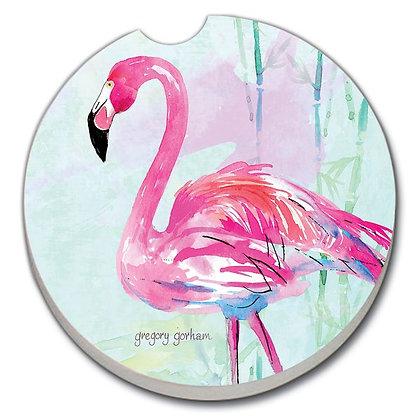 Car Coaster - Flamingo Flair