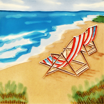 Beach Tile Magnet 3x3