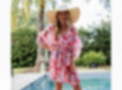Caribbean Drawstring Cover Up Hot Pink:O