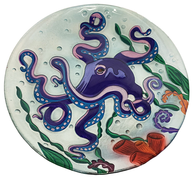 "Small Octopus Plate 8"" Oval"