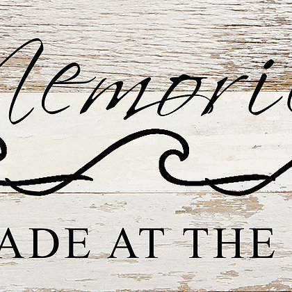 Memories are made at the Beach Wood Sign