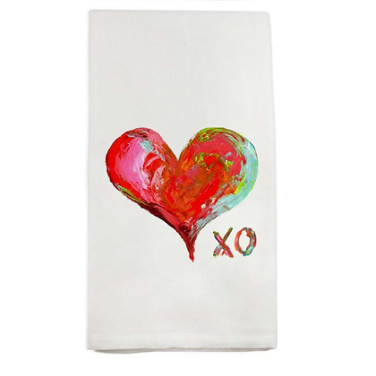 Colorful Heart XO Kitchen Towel