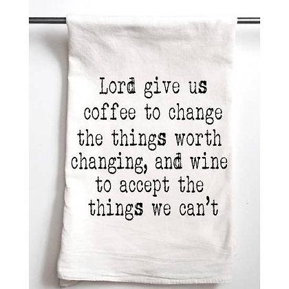 Wine Coffee Serenity Prayer Towel