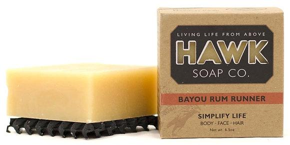 Hawk Soap Co. -Bayou Rum Runner - Soap for Men