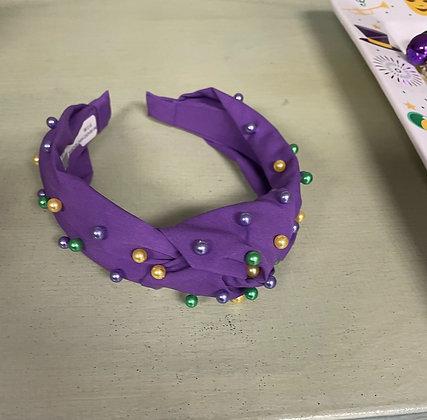 Mardi Gras Beaded Headband