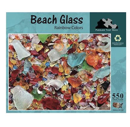 Beach Glass Rainbow Jigsaw Puzzles 550 Pieces