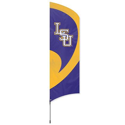 LSU Tall Team Flag Kit with Pole - 11.5 Feet Tall