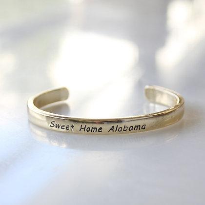 """Sweet Home Alabama Gold Cuff 5"""""""