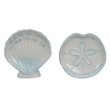 Sand Dollar & Shell Trinket Dishes