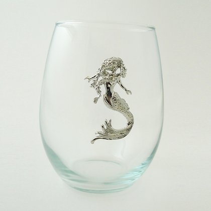 Mermaid Stemless Glass 21 oz copyright by Maurice Milleur