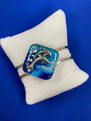 Oval Hinge Dolphin Bracelet